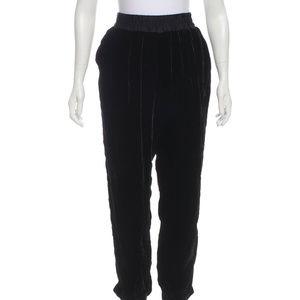 Rebecca Taylor Black Velvet Jogger Pants sx XL 12
